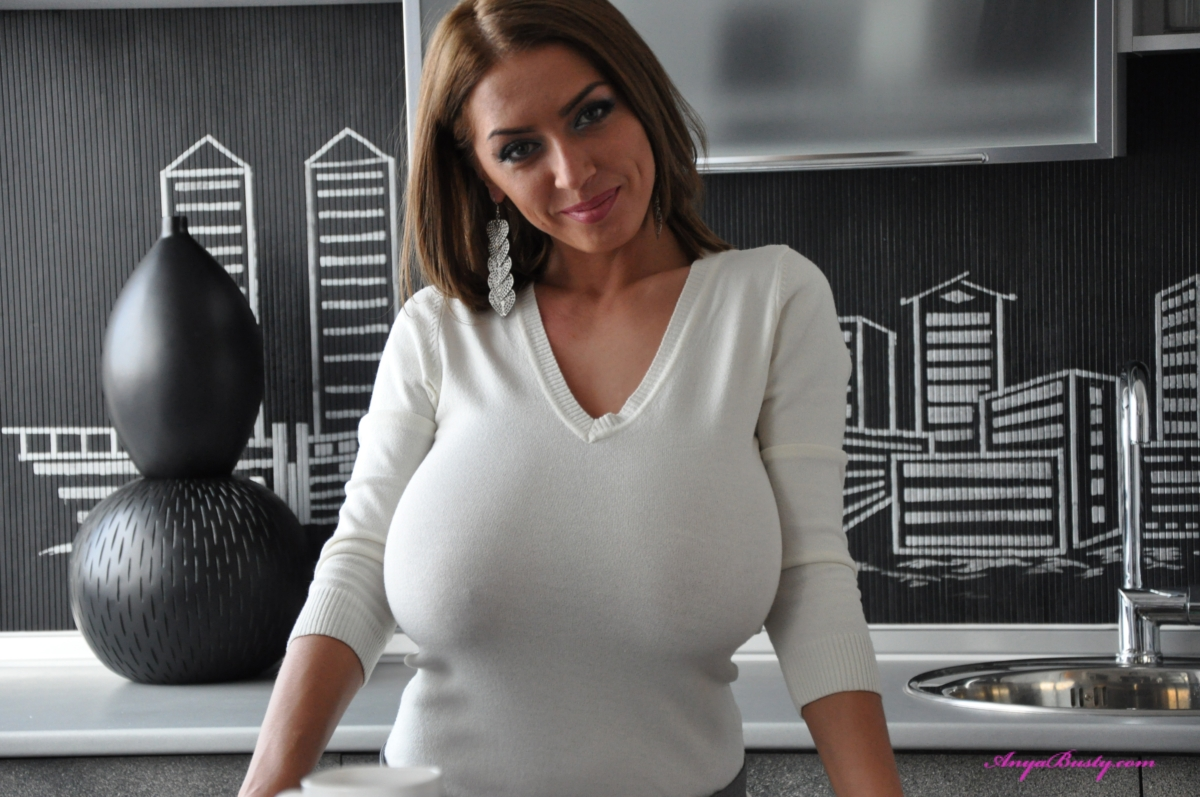 Big tits in tight sweaters