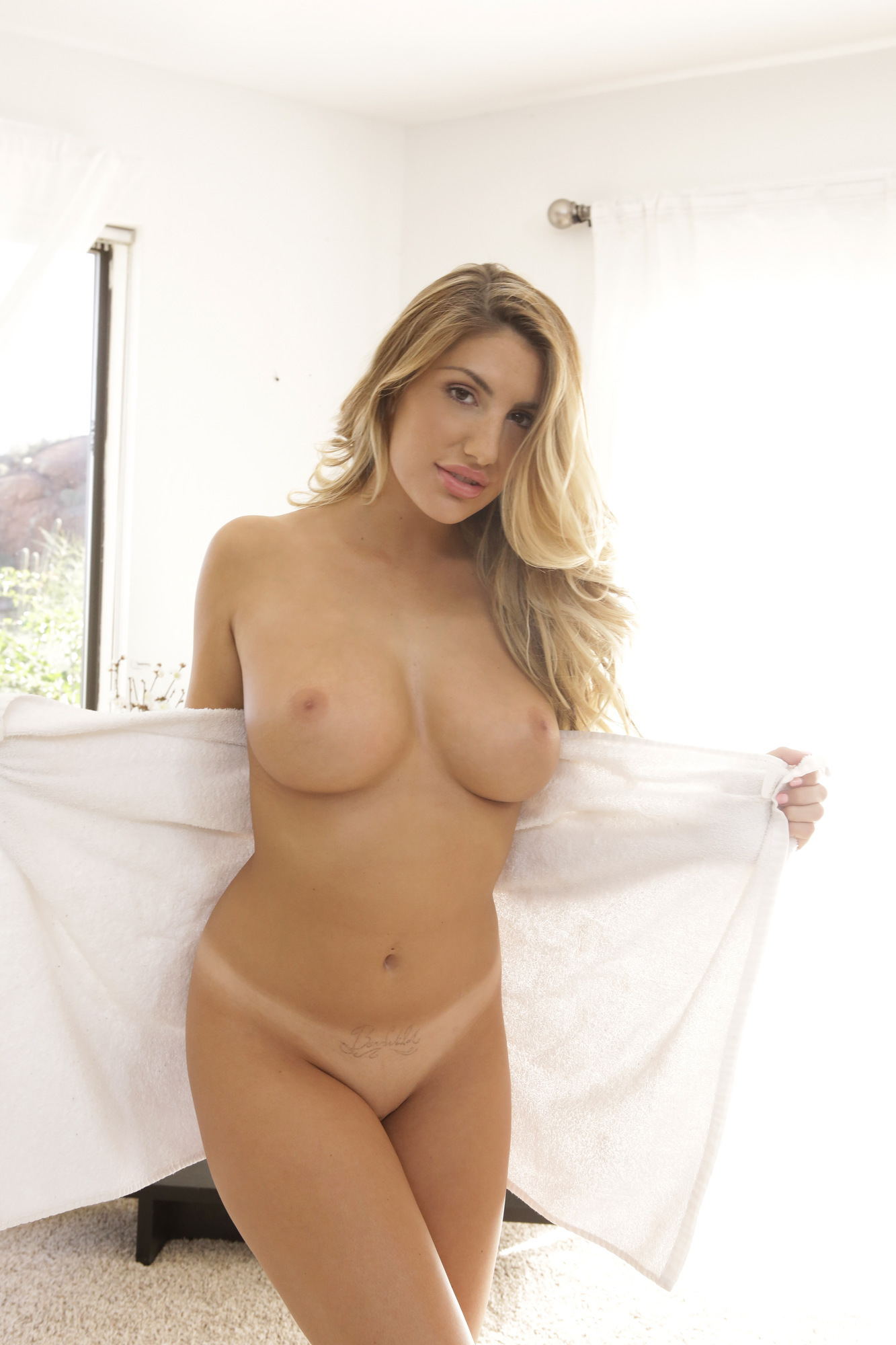 August ames - between the breasts