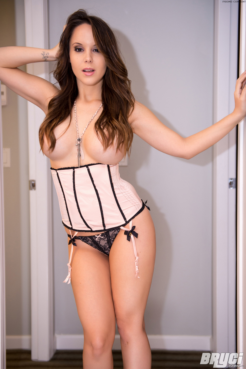 Her corset on with her fuck