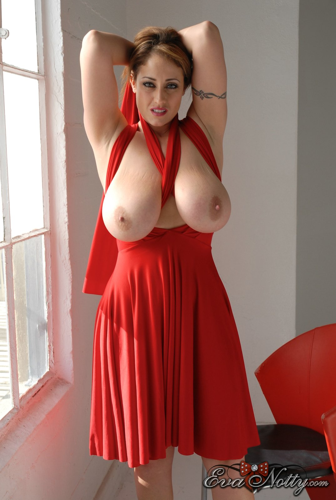 with big dress breasts women up