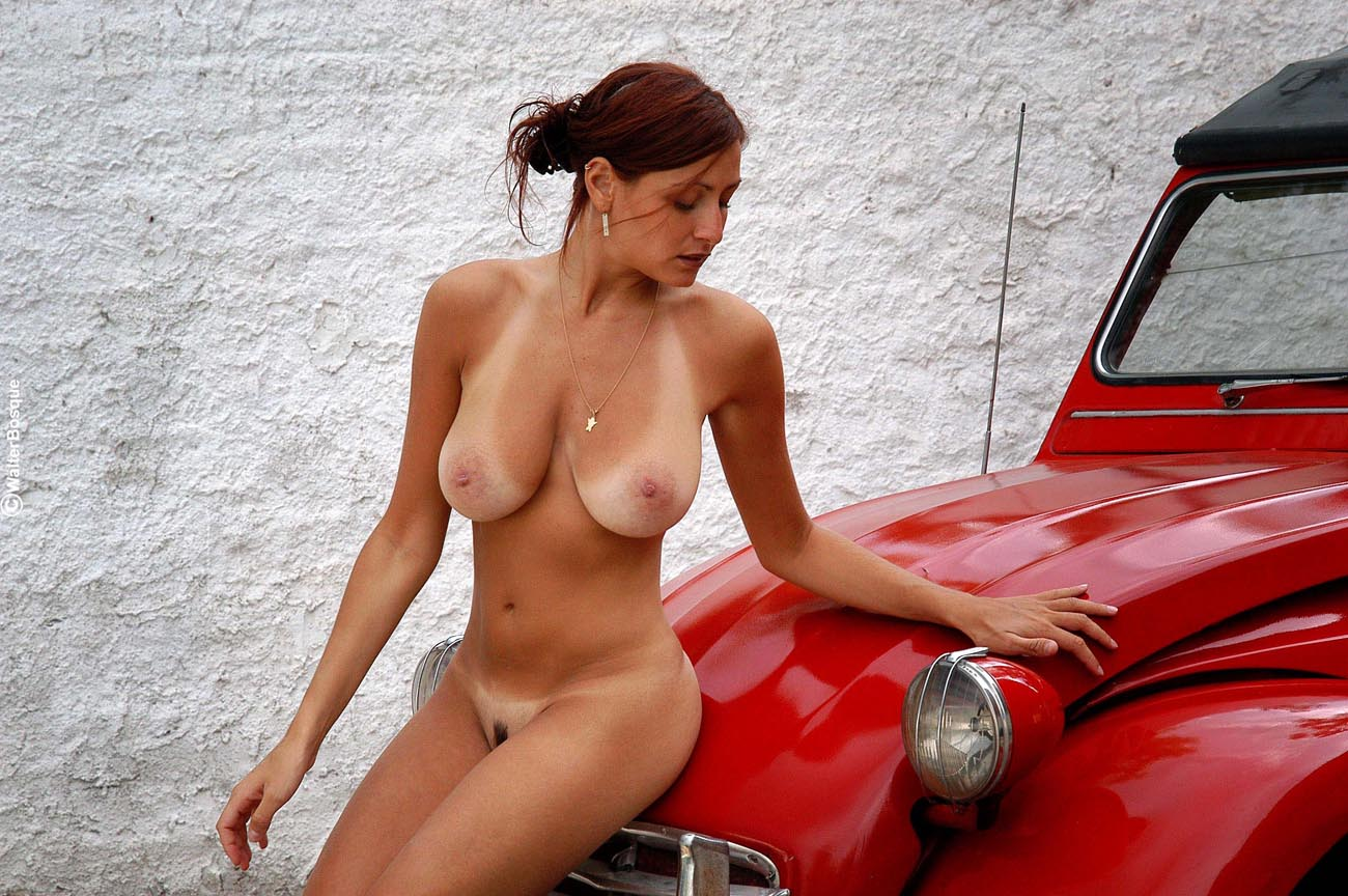 All Nude car show babes something is