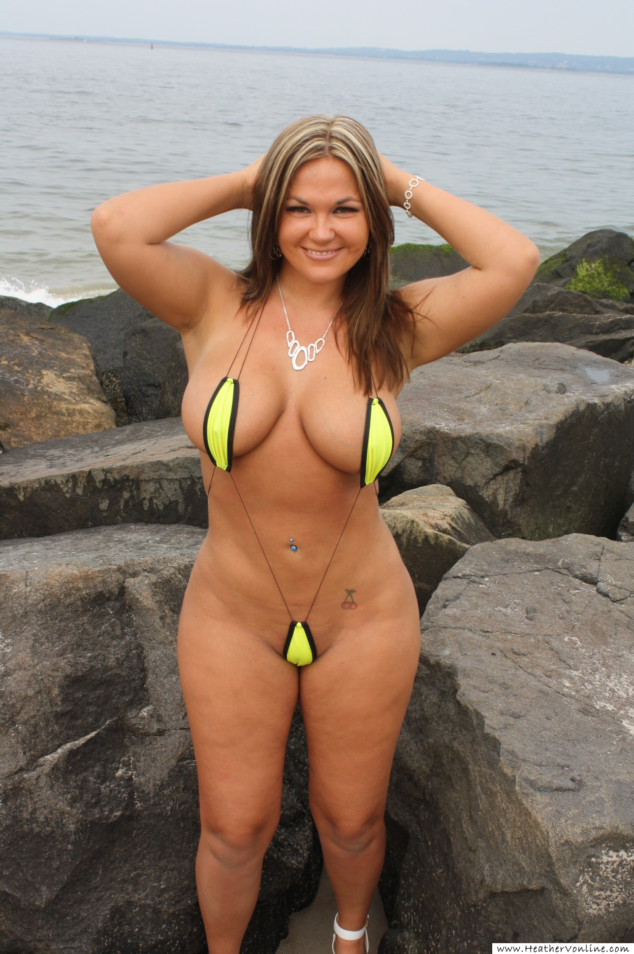 Tiny Beach Bikinis String only microkini nude model - Vimeo