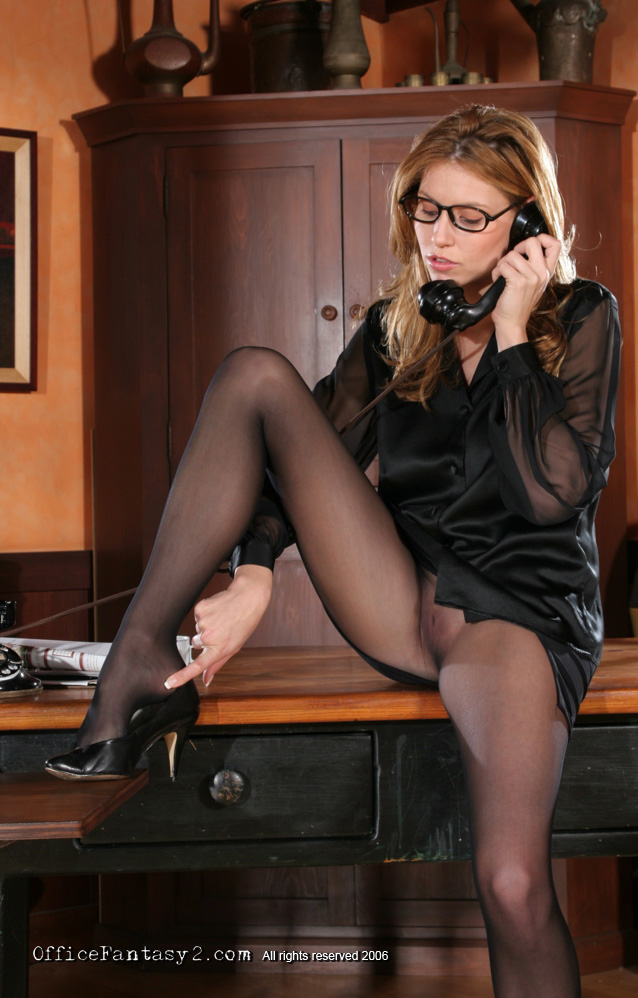 Hot secretary stacy silver