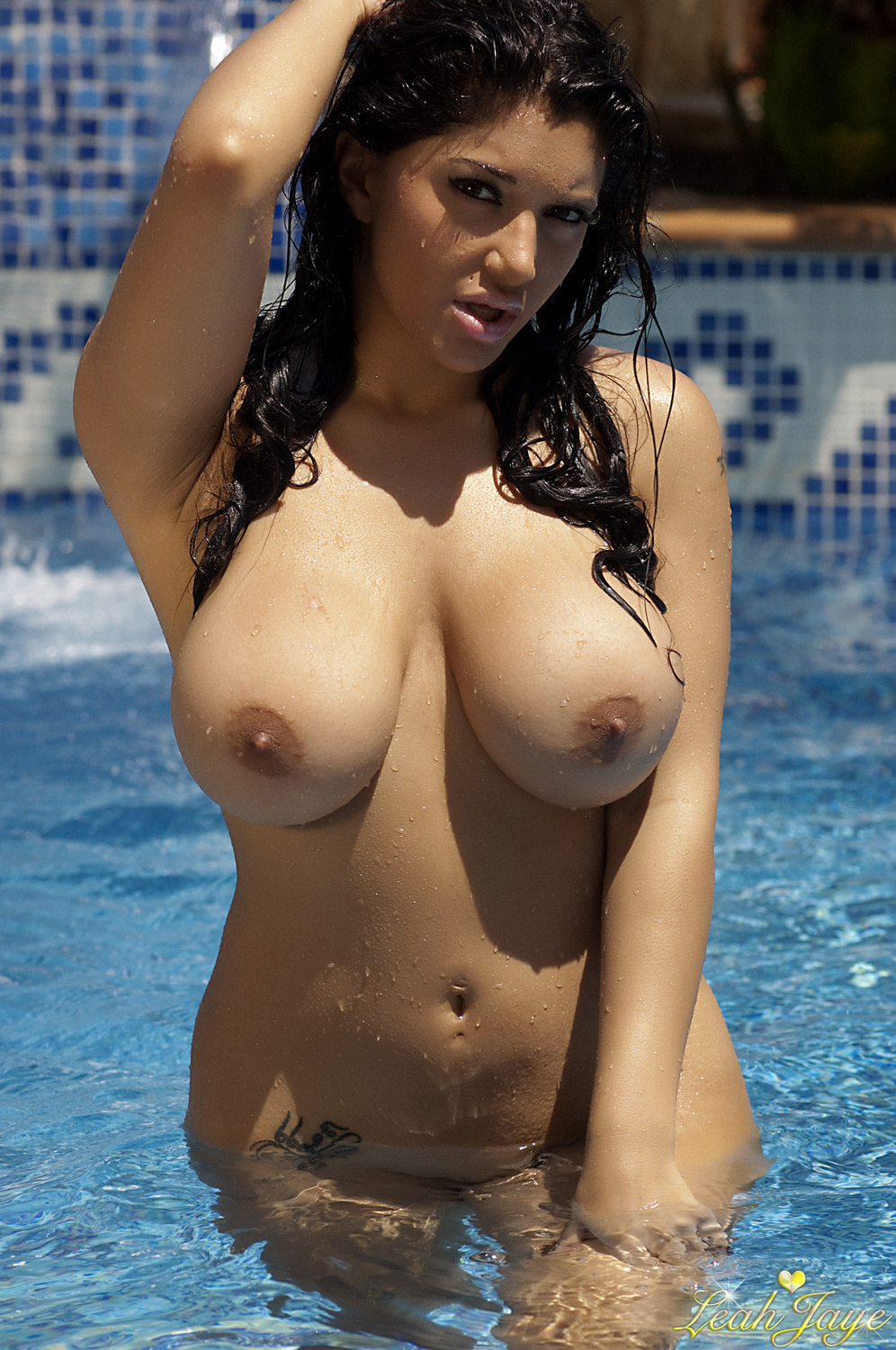 Boob pool swimming