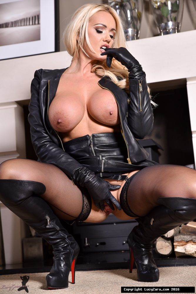 Black leather pussy