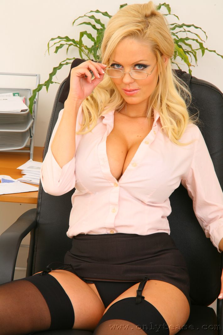 Busty women in the office butt