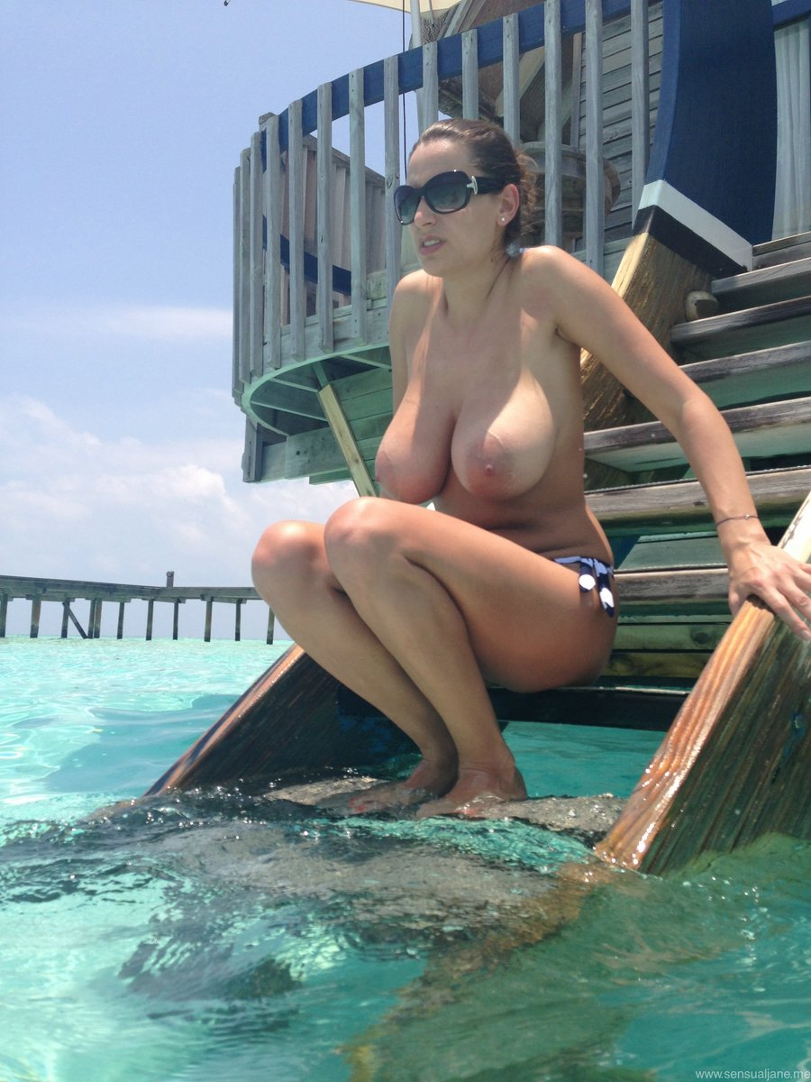 Topless Wife On Vacation