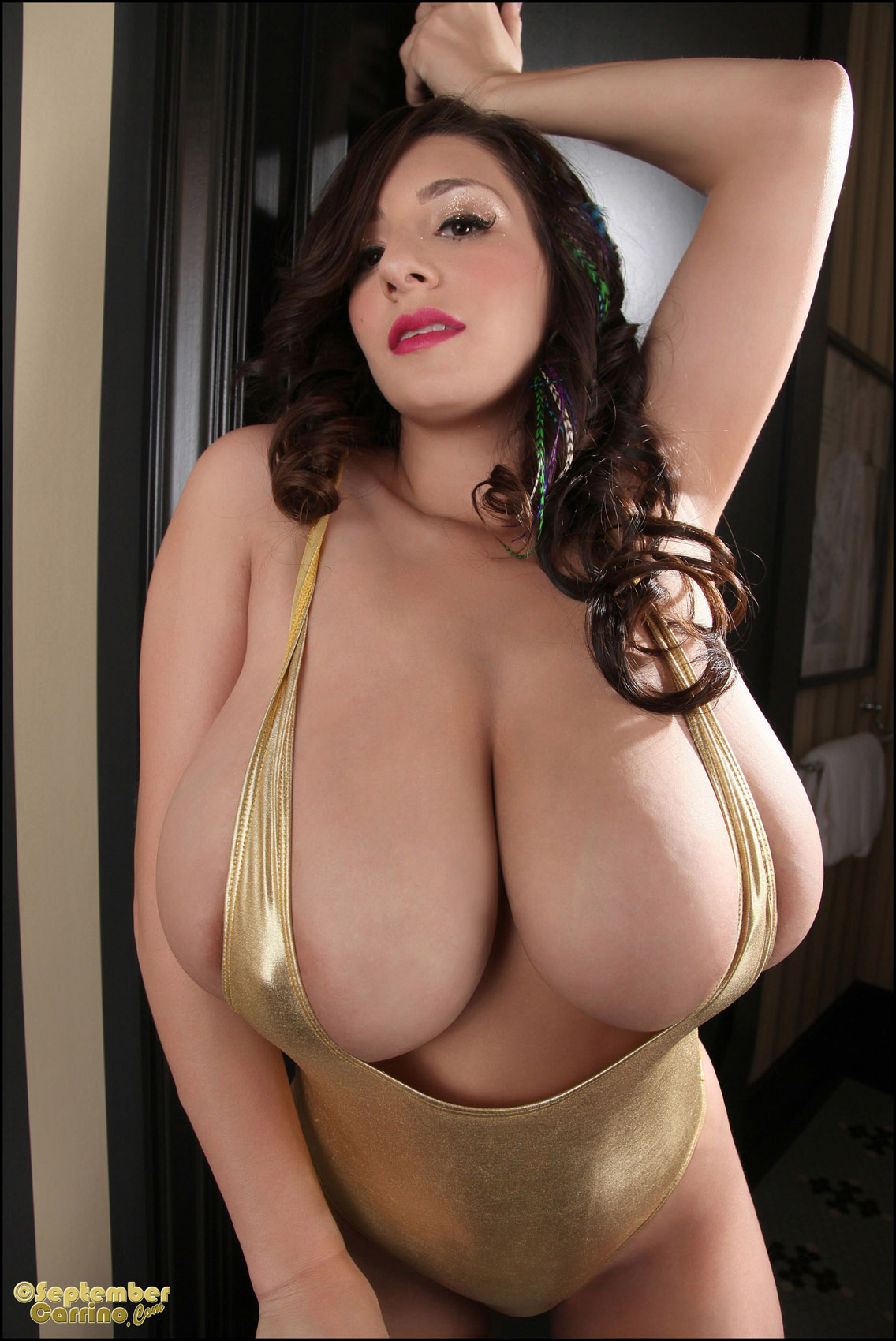 Golden milf boobs