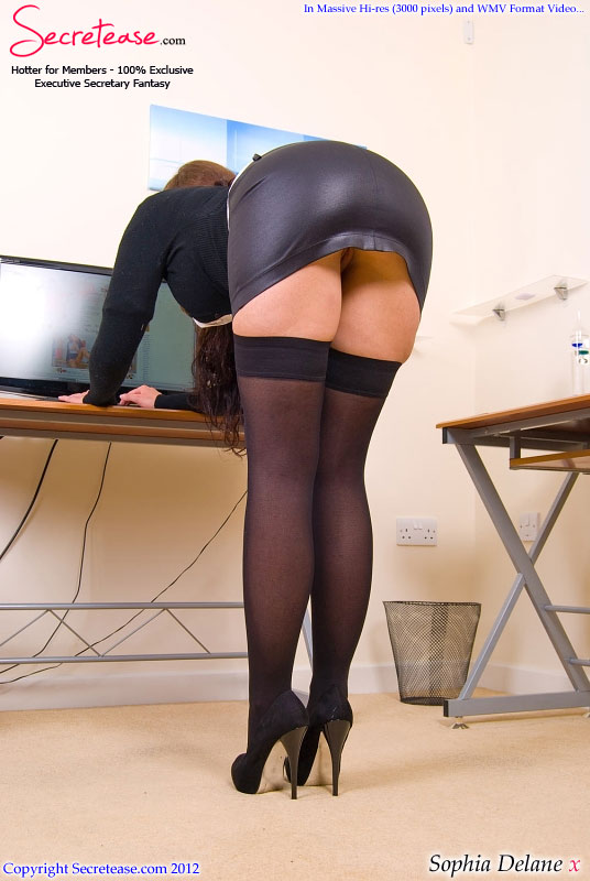 Wife picture executive secratary pantyhose throat