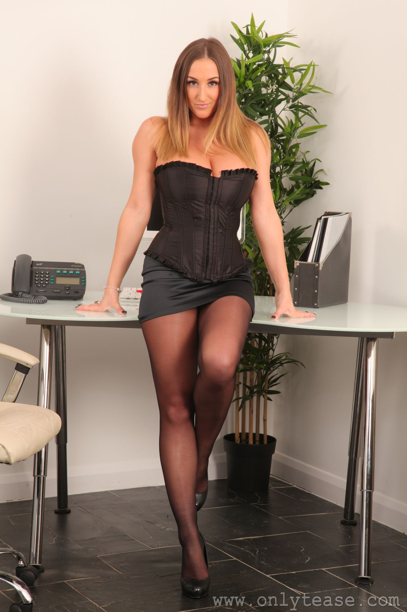 Stacey Poole Office Corset Only Tease - Only Tease - FoxHQ