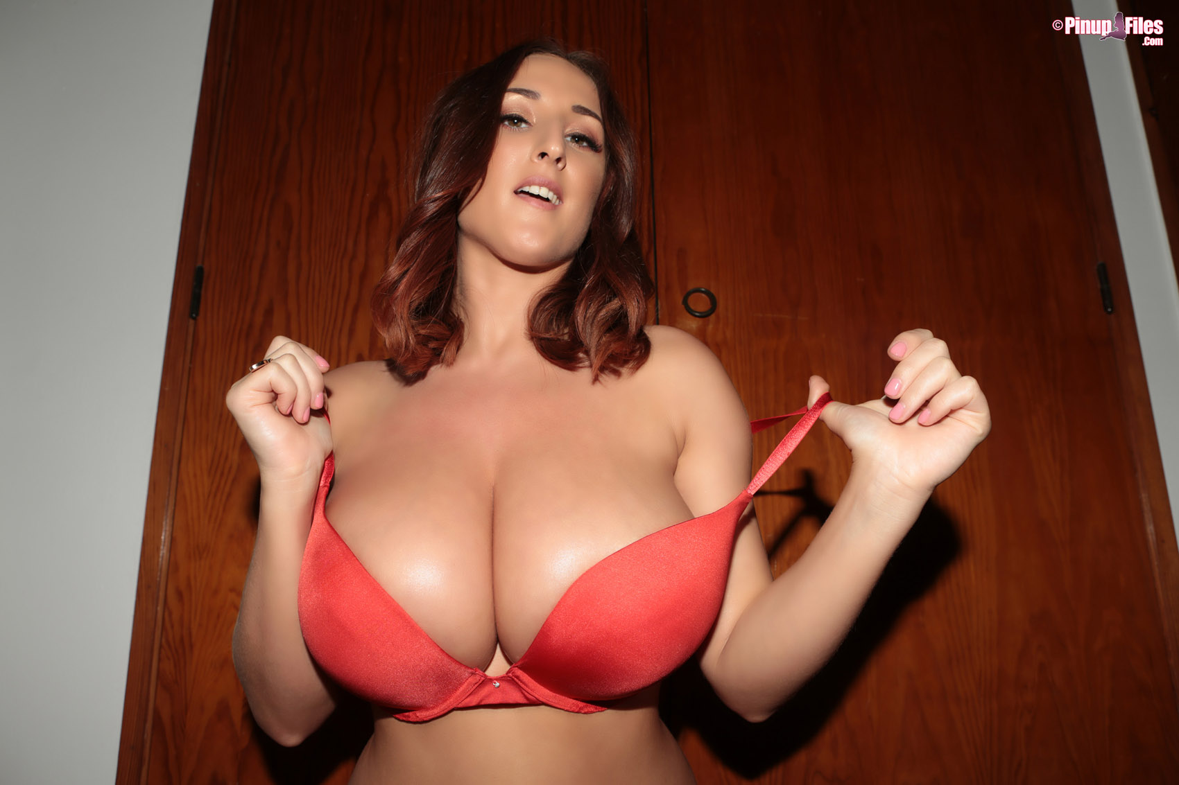 ... Stacey Poole Red Lingerie Tits and Ass Pinupfiles