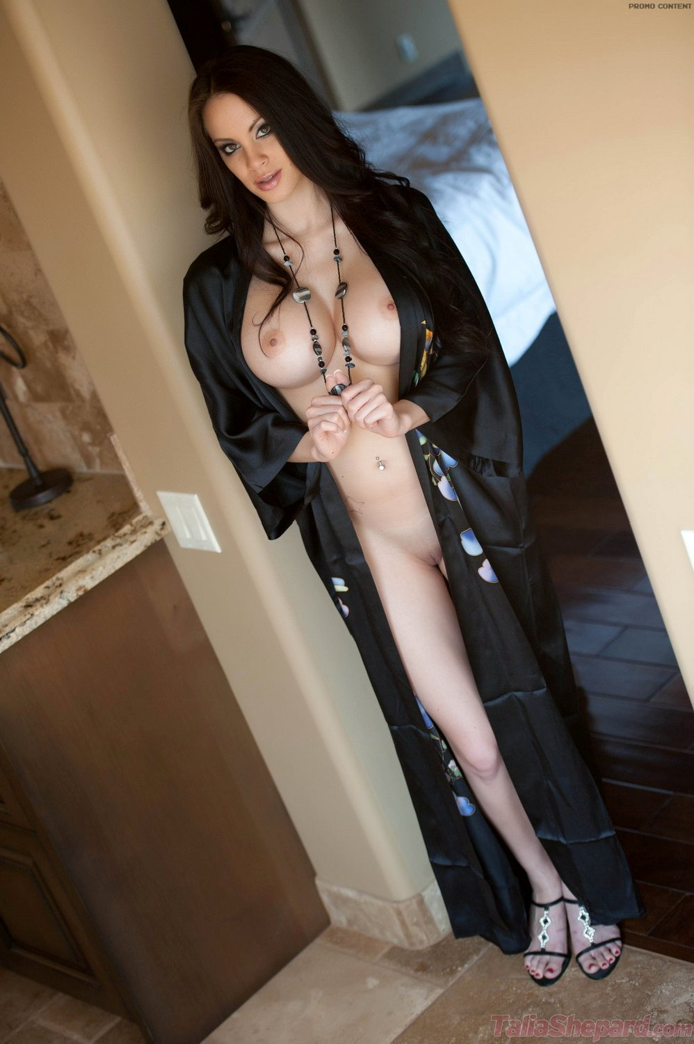 girl in robe naked