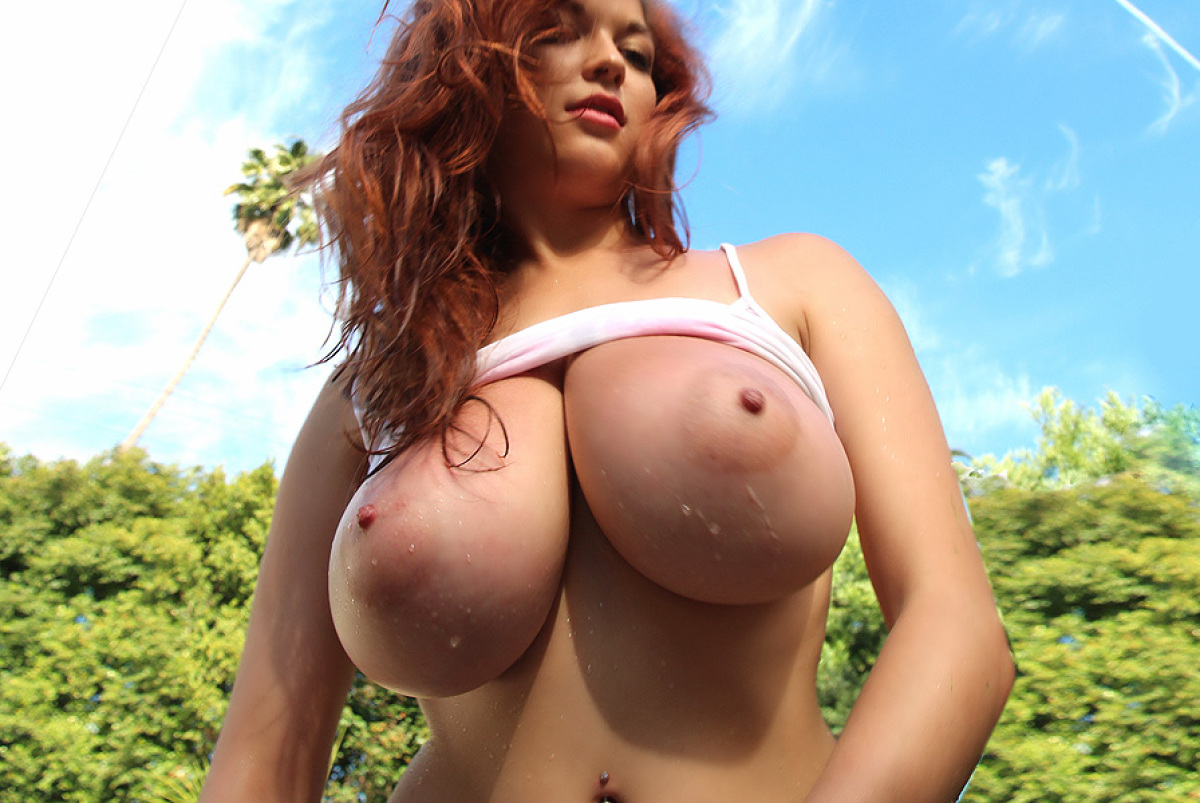 Flashing, natural breasts, nipples droppin these big ol bodacious titty