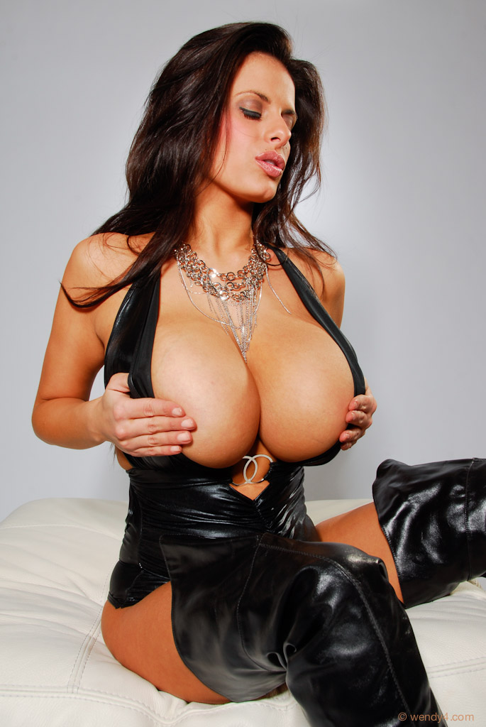 Leather boobs